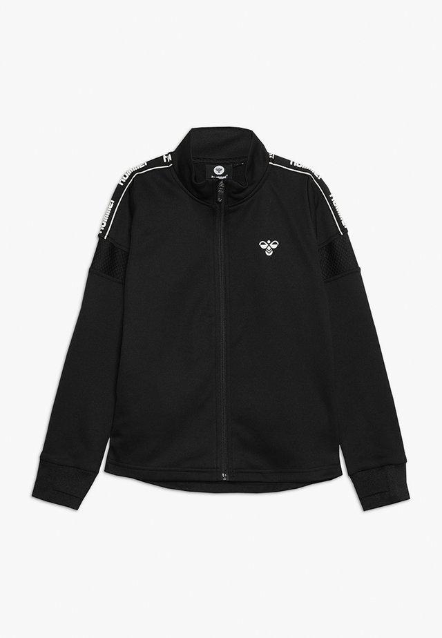HMLASK ZIP JACKET - veste en sweat zippée - black