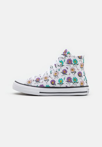 CHUCK TAYLOR ALL STAR PLAYFUL PETALS UNISEX - Sneakers alte - white/pixel purple/electric aqua