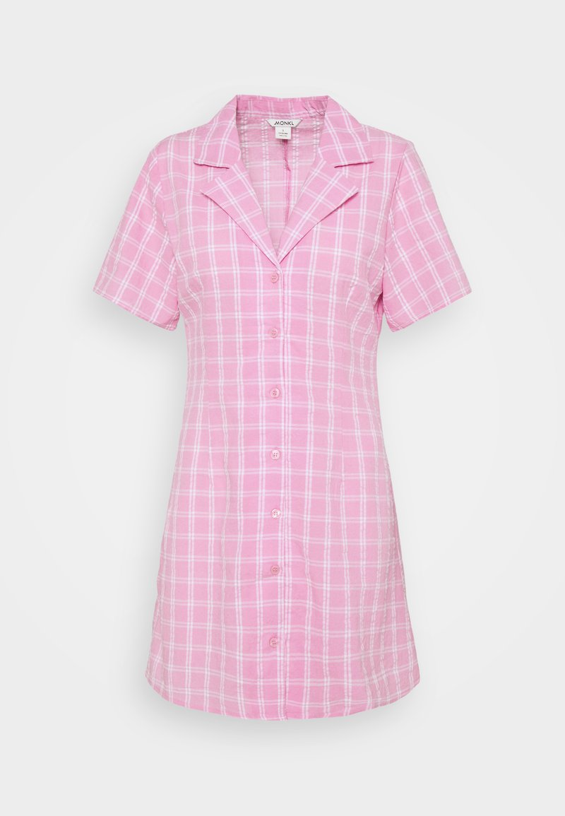 Monki - MAJA DRESS - Shirt dress - pink check