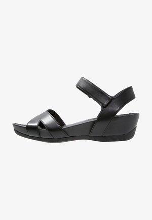 MICRO - Sandały na platformie - black