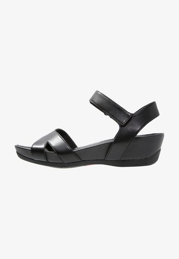 MICRO - Platform sandals - black