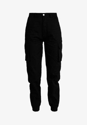 PLAIN CARGO TROUSER - Kalhoty - black