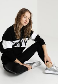 DKNY - HIGH WAIST LOGO TAPING - Collants - black - 1