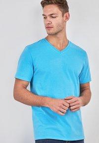 Next - Basic T-shirt - blue - 0