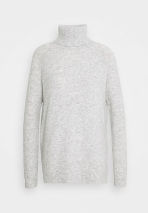 VMPLAZA ROLLNECK LONG - Jumper - light grey melange