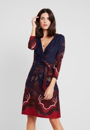 Day dress - blue/bordeaux