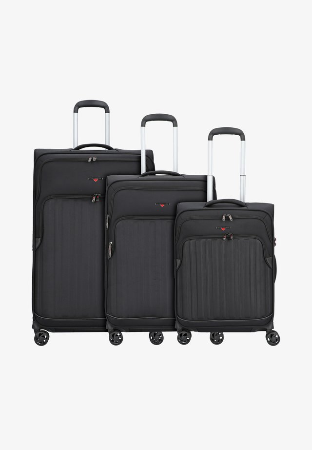 3 PACK - Luggage set - black