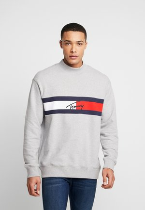 FLAG PANEL - Sweatshirt - light grey
