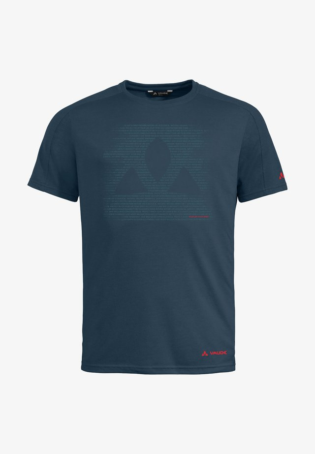 Print T-shirt - steelblue