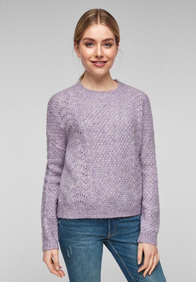 Jumper - purple knit