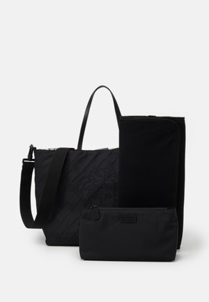 BAG SET - Taška na přebalování - nero/oro/bianco