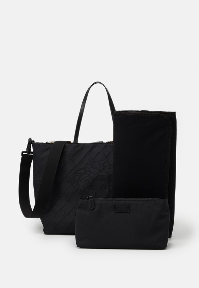 BAG SET - Baby changing bag - nero/oro/bianco