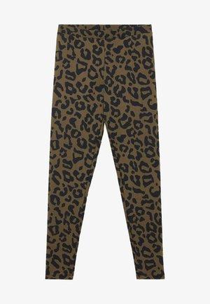 Leggings - Trousers - verde kaki st animalier nero