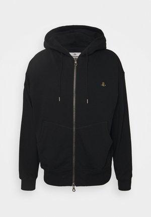 RUGGED ZIP HOODIE - Zip-up hoodie - black