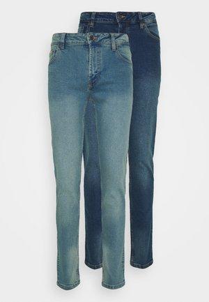 2 PACK - Jeans slim fit - light blue/dark blue