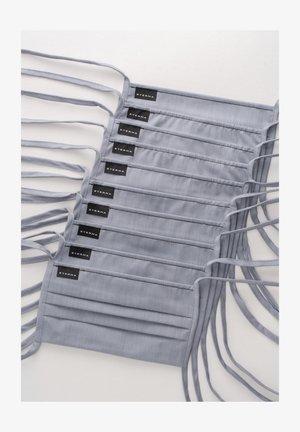 10 PACK - Stoffen mondkapje - grau