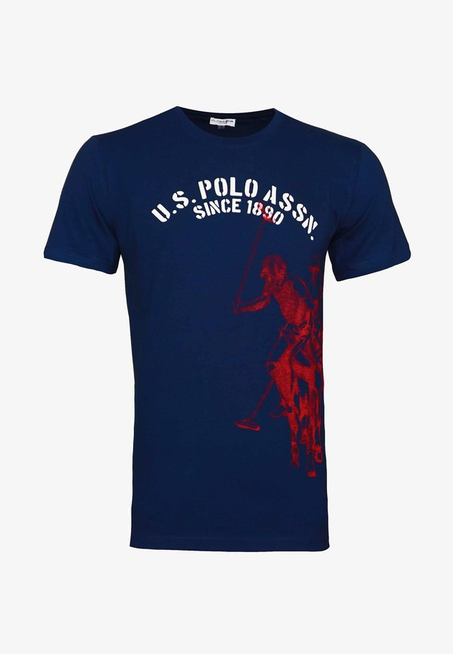 T-shirt con stampa - dunkelblau