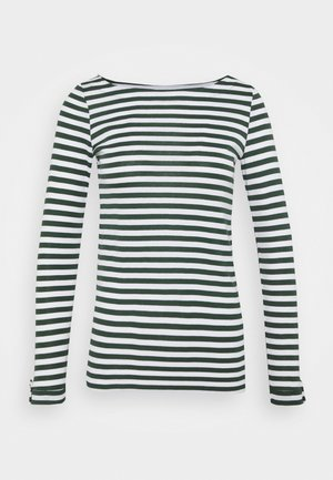 STRIPE LONGSLEEVE - Long sleeved top - dark green