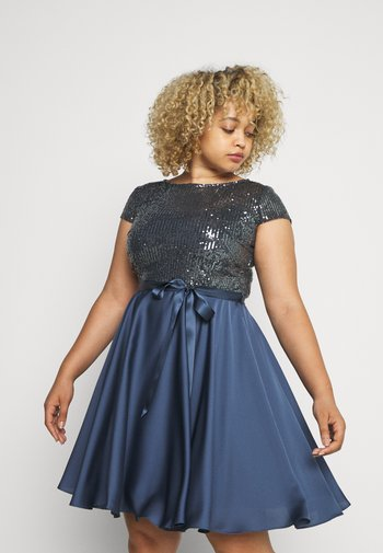 Cocktail dress / Party dress - medium blue