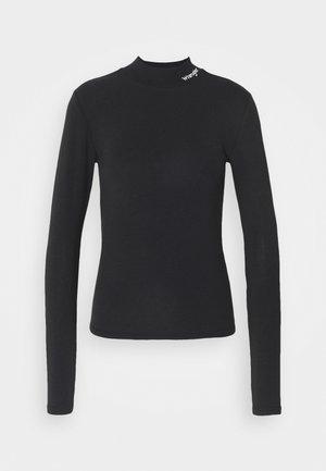 HIGH NECK BABY TEE - Long sleeved top - black