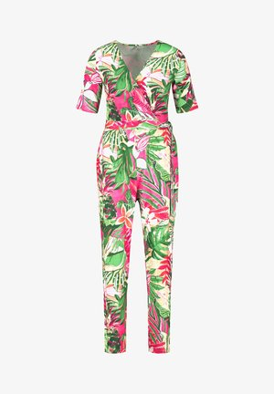 Jumpsuit - lila/pink/grün druck