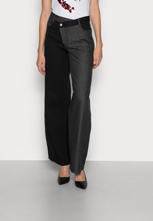 YOUR BEAT JEAN - Straight leg jeans - washed black contrast