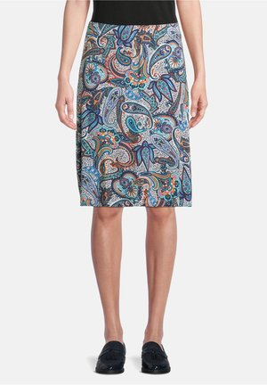 A-line skirt - dunkelblau/blau