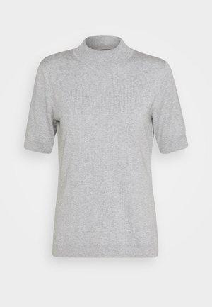 MOCK NECK - Print T-shirt - soft light grey melange