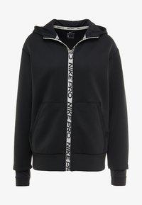 Nike Performance - HOODY - Zip-up hoodie - black/metallic silver - 5