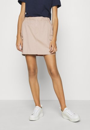 CARPENTER SKIRT - Mini skirt - soft beige