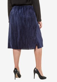 Ulla Popken - A-line skirt - deep dark blue - 1