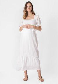 Seraphine - SHIRRED MATERNITY - Maxi dress - white - 4