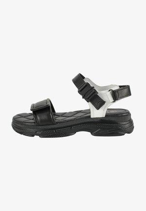 Sandalen met plateauzool - black-white