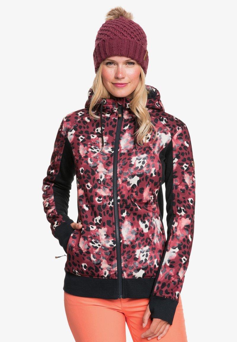 Roxy - FROST PRINTED - Fleece jacket - oxblood red leopold