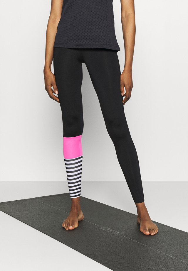 LEGGINGS SURF STYLE - Collants - neon pink/black