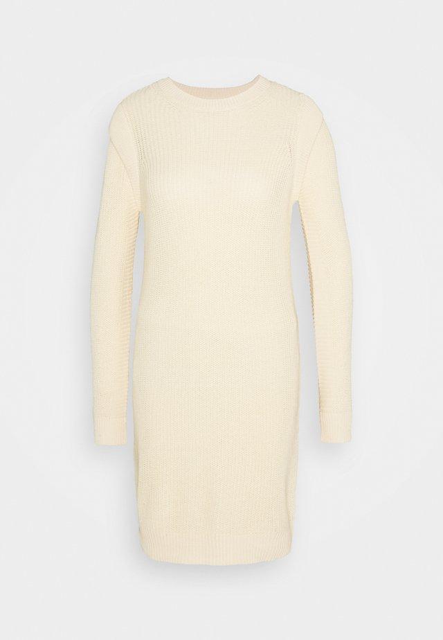 NMKAJA DRESS - Gebreide jurk - ecru