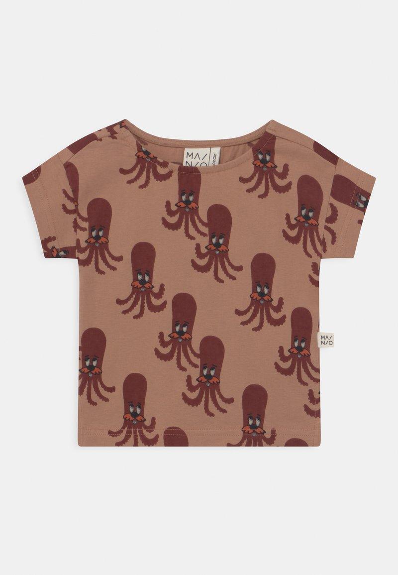 Mainio - OCTOPUS UNISEX - Print T-shirt - camel