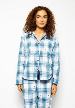 Pyjamashirt - nvy heart dob chks