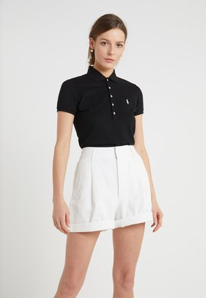 JULIE SHORT SLEEVE SLIM FIT - Polo shirt - black/white