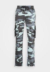 Sixth June - CAMO STRAP PANTS - Cargo trousers - blue - 3