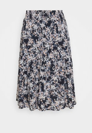 JASOFTY SKIRT - A-line skirt - navy blazer/mix