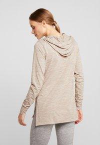 Nike Performance - YOGA COVERUP - Long sleeved top - desert dust/fossil stone - 2