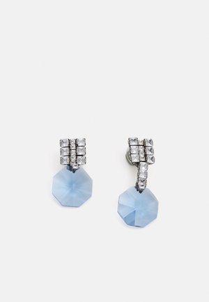 Náušnice - light blue/silver-coloured
