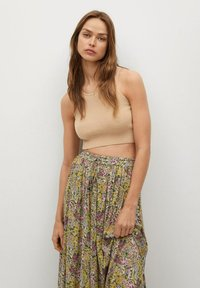 Mango - PALMA - Maxi skirt - green - 4