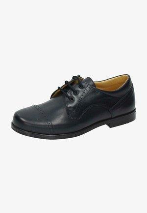 Zapatos con cordones - marino oscuro