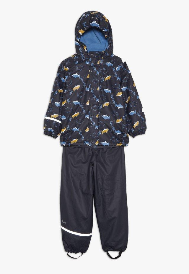 RAINWEAR SET - Rain trousers - navy