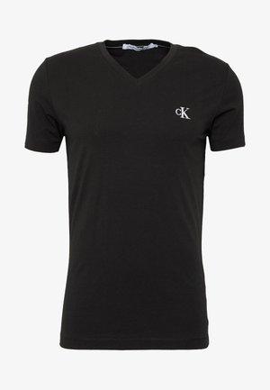 ESSENTIAL V NECK TEE - Basic T-shirt - ck black