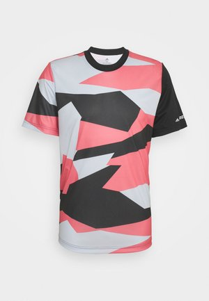 TERREX GRAPHIC - Print T-shirt - white/hazy rose