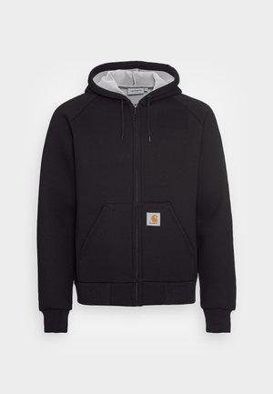 CAR LUX HOODED JACKET - Mikina na zip - black / grey