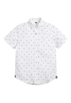 WHITE SHORT SLEEVE ALL OVER PRINT OXFORD SHIRT (3-16YRS) - Shirt - white